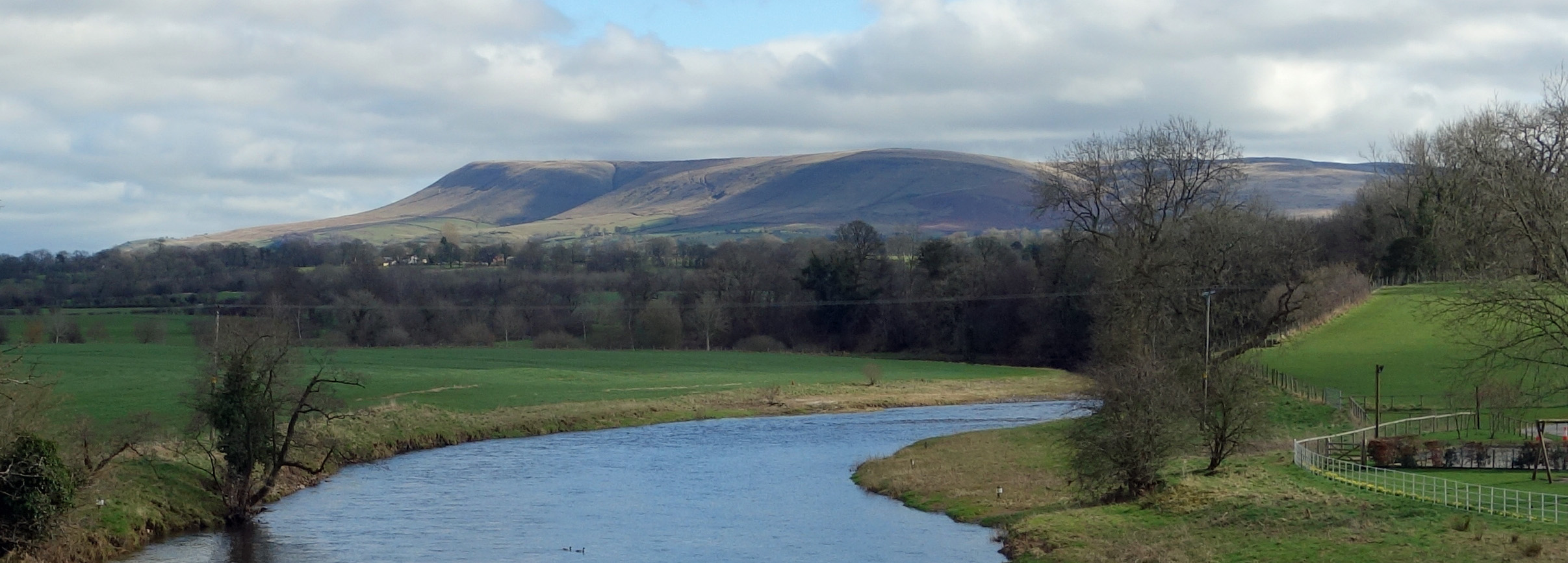 Pendle from Mitton Bridge